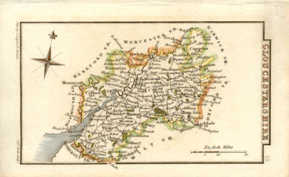 1820 map of Gloucestershire