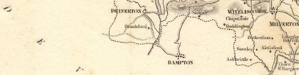 Map of Bampton and Stawley