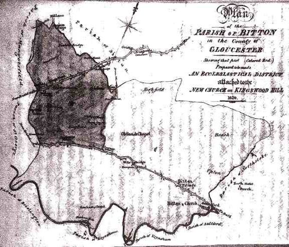 Plan of the Parish of Bitton, 1820